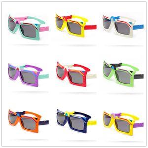 أطفال نظارات شمسية قابلة للطي الوجه المحولات الشكل الاستقطاب النظارات الشمسية المضادة للأشعة فوق البنفسجية نظارات شمسية للطفل بوي فتاة 3-12T