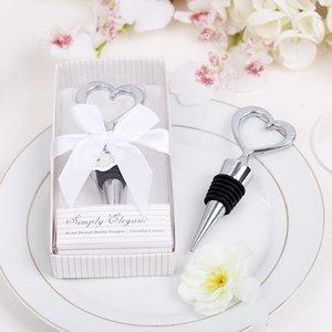 Heißer Verkaufs-Rotwein-Stopper-Hochzeit Giveaways Stoppers Flexible Heart Shaped Twist Cap-Flaschen-Stecker mit Kleinkasten 4cd dd