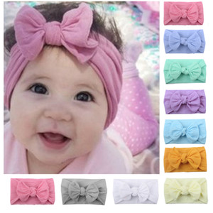 Nouveau-né bébé enfant en bas âge filles arc Bandeau cheveux bande Wrap Lapin Big Bow Noeud Turban Bandeau Accessoires cheveux pour 0-2Y