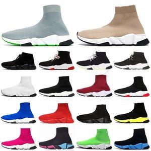 Дизайнер Носки Обувь Скорость Тренер Мужские Женщины Сапоги Тройной Черный Белый Красный Синий Кроссовки Носок Гонки Спортивная Роскошная Обувь 36-45