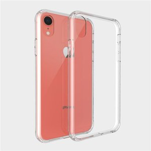 Transparent Rugged Phone Case Clear TPU PC Shockproof Cover For iPhone XS 11 pro Max XR X 6 7 8 Plus