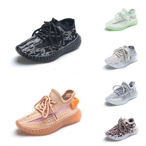 Online Run Shoes Kanye West Running Shoes Kids Sneakers V2 Children Athletic Shoes Boys Girls Sneakers Black Red Cream White Zebra #716