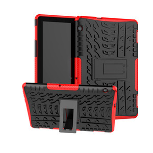 Dazzle Hybrid Kickstand TPU+PC Rugged Armor Tablet Case Cover for Huawei Mediapad M5 Lite T5 10.1 Protective Shell with Kickstand