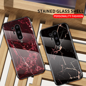 Для OnePlus 8 про мобильный телефон случае новый OnePlus 7 6 5Т про OnePlus норд против падения мрамор узор закаленного стекла Дизайнер телефон случае