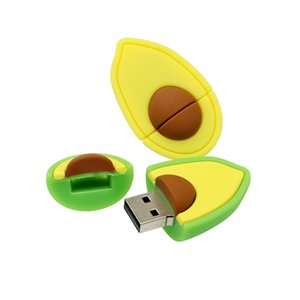 Cle USB 2.0 Avocado Pear Fruit Cute Lovely Gift Pen Drive 128GB 16GB 8GB 32GB 64GB USB Flash Drive Memory Sk Pendrive