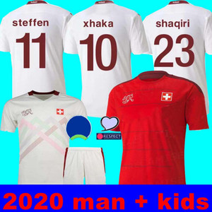 2020 maillots de football Suisse blanc Euro Suisse loin Akanji Zakaria Rodriguez Elvedi maillots de football de l'équipe nationale