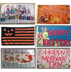 Özel Paskalya Bayrak 3x5 FT 90x150 cm Özel Noel Şükran Valentine Anne Baba Aziz Patrick Cadılar Bayramı Yeni Yılınız Kutlu Olsun Bayraklar Afişler