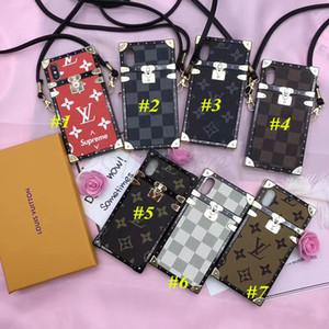Drop Shipping luxe en cuir TPU téléphone pour iPhone 12 11 Pro 11Pro X XS MAX XR 8 8Plus 7 7Plus 6 6s Plus Cross Body Dragonne Cover