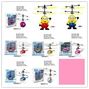10models RC Drone Flying copter Bola Avión Helicóptero Led Intermitente Light Up Juguetes Inducción Sensor de Juguete Eléctrico Niños Niños navidad BB