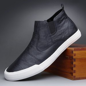 2020 new hot fashion men simple slip-on leather casual shoes trend shoes cool loafers man leather shoes