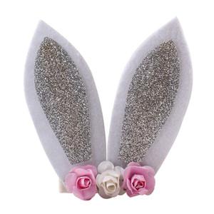 Pâques à la mode décontractée Oreilles de lapin de lapin clips filles bébé adultes Floral lapin Barrettes une des pièces