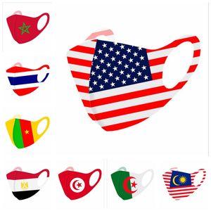 8 Стилей футбольных масок пыла многоразовой национального флага взрослые маска рот любители футбола конструктора маска YYA340 500pcs