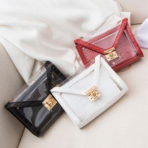 2020 nuevo bolso femenino cocodrilo patrón de gama alta bolso transparente de la cena mensajero de mini banquete que sostiene el pequeño cuadrado de la cena
