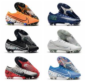 2019 top quality mens soccer shoes cr7 soccer cleats outdoor Ronaldo football boots Mercurial Vapors 13 Elite Neymar FG new