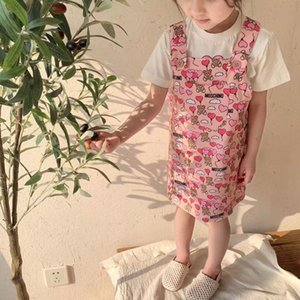 Muchachas de la manera de los guardapolvos del vestido del bebé niños de pecho Ropa de los niños muchachas de los niños del verano de los vestidos vestido de general