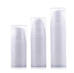 50 unids / lote 5 ml 10 ml 15 ml PP muestra pequeña botella sin aire botella de loción bomba de vacío botella utilizada para Cosmética Containe