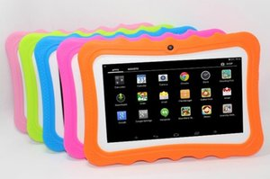 Kids Brand Tablet PC 7inch Quad Core children tablets Android 4.4 Allwinner A33 google player wifi big speaker protective cover factoryprice