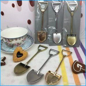 Multi-function Stainless Steel Farmer Shovel Spade Shape Spoon, Bottle Opener, Dessert Coffee Ice Cream Spoon, Creative Gift