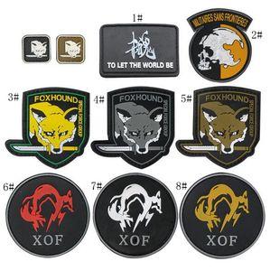 19VP-43 patchs de moral moral tactique de PVC 3D avec le bâton magique brassard de patch en caoutchouc acide de FOX Metal Gear pour le capuchon peut la conception de client