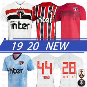 Tay DANI ALVES PATO Yeni Sao Paulo 2020 Jersey Üçüncü Dışarıda Siyah Kırmızı Futbol Hernanes LIZIERO Brezilya Kulübü Ana Beyaz Futbol Gömlek GOLEIRO