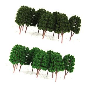 20pcs Yeşil Model Ağacı 1/100 Ölçekli Sokak Parkı Tren Demiryolu Manzara Düzen