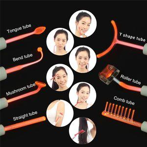 Tragbare High Frequency Gesicht Gerät Acne Spot Remover Gesicht Anti-inflammator Haarwachstum mit 7 Glaselektroden Probes