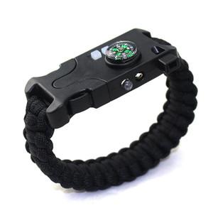 laser d'escalade d'aventure AK17 infrarouge bracelet rechargeable de survie SOS tressé bracelet lampe de poche de l'aide de la boussole LED