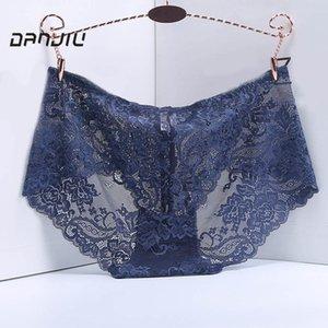 DANJIU Women Breathable Panties Sexy Lace Women's Briefs Hollow Flowers Elegant Woman Lingerie Calcinha Underpants T200420