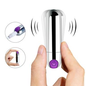 In acciaio inox Bullet Shape Dildo Vibratore 10 Velocità Impermeabile G-spot Clitoride Stimolatore Anale Min Massaggiatore Giocattolo Sex USB Ricarica