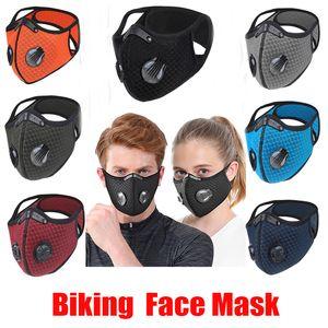 Nouveau vélo anti-poussière vélo masque facial Activated Équitation Cyclisme Course à pied Cyclisme carbone Anti-pollution Activé Masque carbone avec filtre Sac OPP