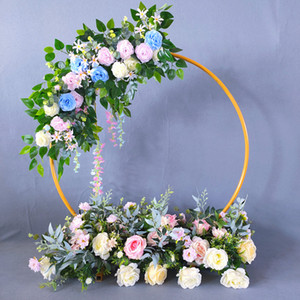 Wedding Arch cerchio del metallo Sfondo Ferro battuto Scaffale decorativi Puntelli rotonda partito fai da te sfondo Shelf Fiore stand Telaio