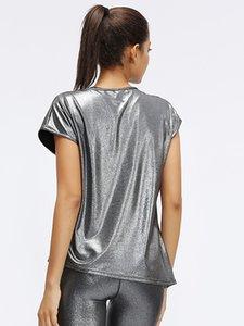 LU-44 2020 neue Sommer-Yoga Lady Breath los Tops Kurzarm T-Shirts für Damen Fitness Workout Sport Läuft Shirts Eröffnet Krawatte Rückseite T