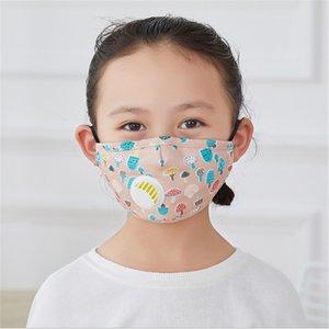 Moda Kids Reusável Crianças Design Máscara Rosto Com Válvula Respiração Anti-Poeira Máscaras Lavável Filtro