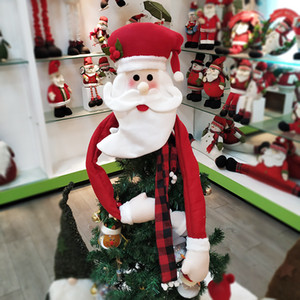 Nueva decoración del árbol de navidad primeros de Santa Claus muñeco de nieve ciervos árbol de Navidad Primeros ornamento rojo de la decoración del hogar DBC VT0911