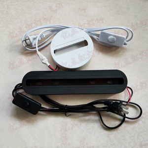 LED-Scheinwerfer-Prüfvorrichtung-LED Orbiter Licht Tester Schienen-Beleuchtung Heads Schwarz Weiß Schienenleuchten Halter Spur Paneeldecke Box mit Draht