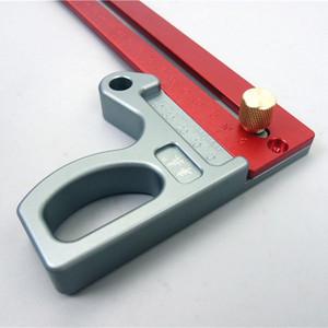 Freeshipping Aleación de aluminio regla cruzada carpintería Scriber Woodworking Ruler