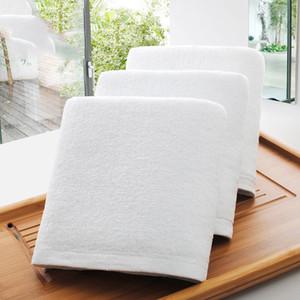 Wholesale Hotel Bath Towels Guest House 100% Cotton White Towel Soft Bathroom Supplies Unisex Usage Natural Safe Bath Towel DBC DH0710