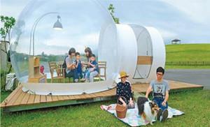 3 * 5 Mt Outdoor PVC Camping Aufblasbare Blase Zelt Große DIY Haus Kuppel Camping Kabine Lodge Luftblase Transparent Zelt