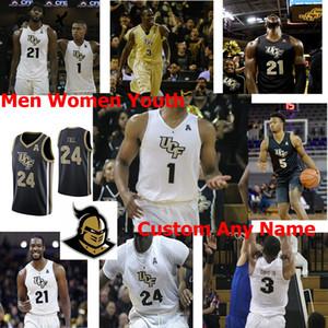 UCF Knights Formalar Şans McSpadden Jersey Yuat Alok Tony Johnson Matt Milon Dre Fuller Ceasar DeJesus Basketbol Jersey Özel Dikişli