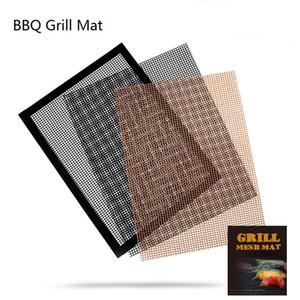 Antiadhésif BBQ Grill Mat Barbecue de cuisson Réutilisable Barbecue Grill Mesh tapis pour Cuisine de plein air Barbecue Grill Accessoires