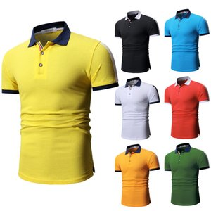 2019 New Style Launched High Quality Fashion Youth Men Casual Cotton Multi-color Short-sleeved Polo Shirt