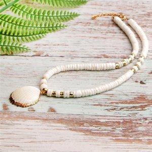Bijoux Pendentifs Shell naturel Collier Mode Starfish Perles Shell Faire Pendentif main pour femme cadeau A03