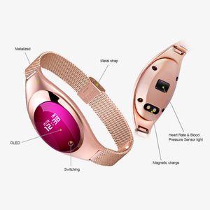 Z18 Smart Bracelet Blood Pressure Blood Oxygen Heart Rate Monitor Sports Tracker Smart Watch Waterproof Bluetooth Wristwatch For IOS Android