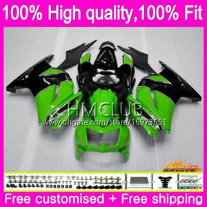 Injeção de OEM para a Kawasaki EX250 ZX250 R 08 09 10 11 12 24HM.5 ZX 250R EX250R EX 250 R ZX250R 2008 2009 2010 2011 2012 Stock Fairing verde
