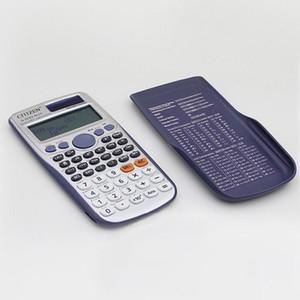 20pcs de haute qualité solaire et la batterie portable Scientific Calculator Portable Calculatrice multifonctionnelle pour l'étude des étudiants en mathématiques