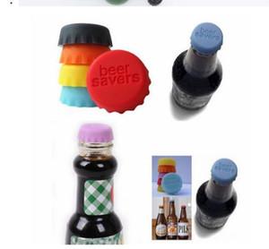 Eco Friendly nueva idea de la botella de silicona suave Cap vino ahorrador de la cerveza Multicolor barra de la cocina Grado Alimenticio 600pcs Lote