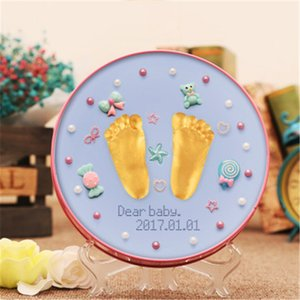 Baby Souvenirs Hand & Footprint Makers Soft Polymer Modeling Clay Air Dry Plasticine Slime Fuffy Kit DIY Toys Growth Record Gift