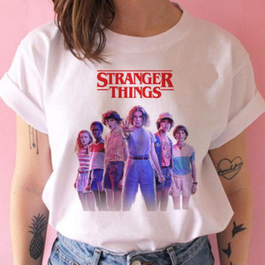 Stranger Things stagione 3 T Shirt Donne Capovolto maglietta Undici femmina grafico grunge Tshirt femme tee-shirt abbigliamento divertente