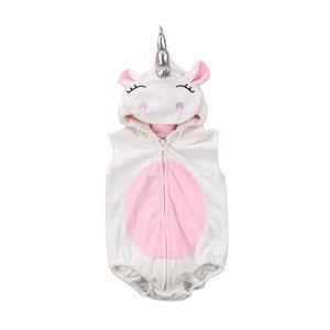 New Einhorn Kostüm Neugeborenes Baby-Einhorn-Spielanzug Fleece-Overall Pullover Outfits