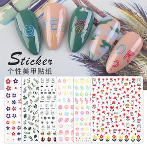 Fashion Nail Sticker Full Cover Cute Printing Decal Water Transfer Tips Nail Art Decorations Manicure DIY Sticker F649